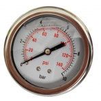Manometer 0-10 bar Glycerin Zadný