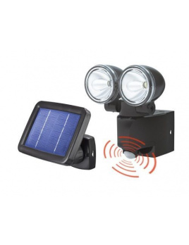 Duo Power - solárne senzorové osvetlenie - čierne