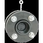 Spätná klapka medziprírubová s pružinou d50 + prírubový komplet, tesnenie EPDM