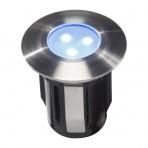 Alpha samostatné svietidlo, nerez 316, d=30mm LED 0,5W modrá IP68