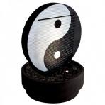 Yin Yang s okrúhlym podstavcom - vodná stena interiér/exteriér