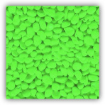 SF Deco Gravel Neon Green 1 kg - zelený štrk do akvária