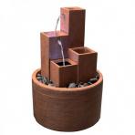 Square Corten s podstavcom - Sklobetónová fontána exteriér/interiér