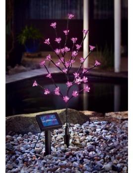 Solárny LED stromček - ružový