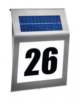 Dizajnové solárne osvetlenie domového čísla