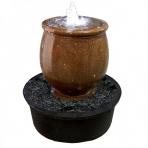Ginger Jar Corten - sklobetónová fontána exteriér