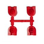 Sada trysiek MPR-25 (červené) 90°,120°, 180°, 360° 1,7-4,5bar 7,0-7,6m
