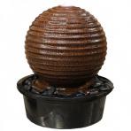 ASAKI BOULE 40/65 Corten - sklobetónová fontána exteriér