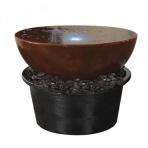BASSIN Corten 120 - Sklobetónová fontána exteriér