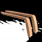 Náhradne opierky na ruky drevené