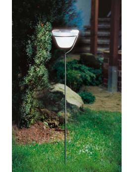 Dizajnová solárna lampa – studená biela