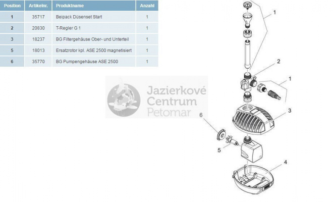 Oase Aquarius Fountain Set Classic 2500