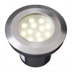 Aureus samostatné svietidlo, nerez 316, d=90mm LED 2W teplá biela IP68