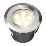 Sirius samostatné svietidlo, nerez 316, d=60mm LED 1W teplá biela IP68