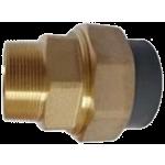 Šróbenie PVC (lepenie) / mosadz (vonkajší závit)