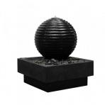 ASAKI BOULE Bronze s podstavcom - sklobetónová fontána exteriér/interiér