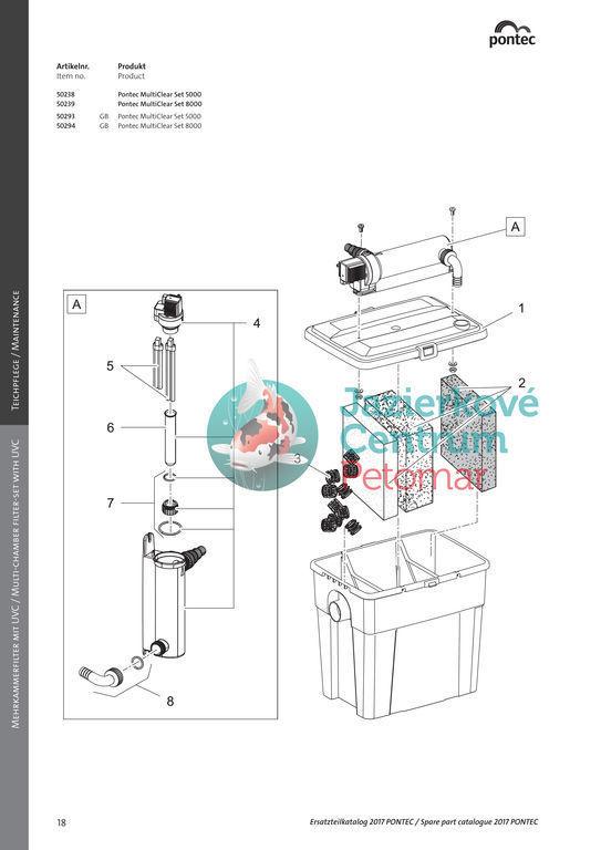 Pontec MultiClear Set 8000 + 0,5kg BKF zdarma