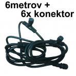 Kábel 6metrov + 6 konektory