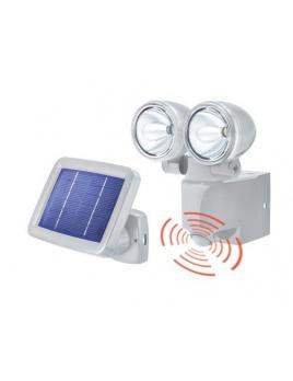Duo Power II Solárne senzorové osvetlenie - sivé